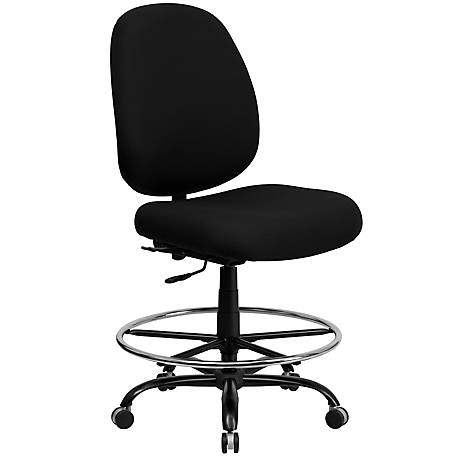 HERCULES Series Big & Tall 400 lb. Rated Black Drafting Chair