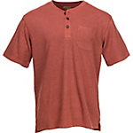 C.E. Schmidt Men's Short Sleeve Textured Henley Shirt