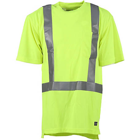 C.E. Schmidt Men's Class 2 Hi-Vis Performance Short Sleeve T-Shirt
