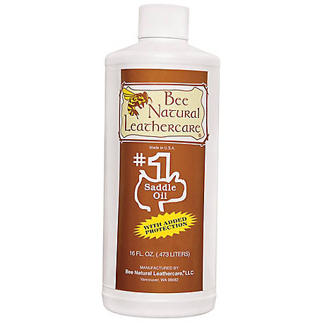 Bee Natural Leathercare #1 Saddle Oil with Added Protection, 1 pt.