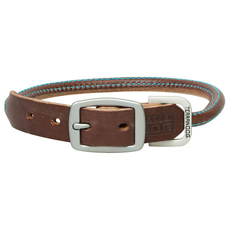 Terrain D.O.G Bridle Leather Rolled Dog Collar