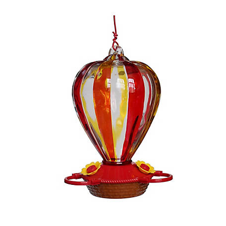 Royal Wing Classic Glass Balloon Hummingbird Feeder, HB-0730C-1