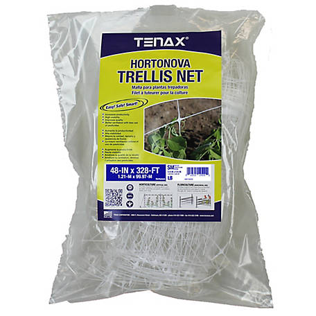 Tenax Hortonova Trellis Net SM 48 in. x 328 ft., White, 58019509