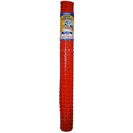 Tenax Safety Snow Fence 4 ft. x 50 ft., Orange, 90600004