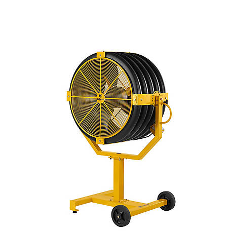 Big Ass Fans Yellow Jacket 30 in. Indoor/Outdoor Smashingly Durable Mobile Fan with 18 in. Pedestal, MP-YJ1-031018S34