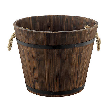 Red Shed Whiskey Barrel Planter