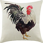 Red Shed White Rooster Pillow