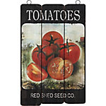 Red Shed Palette Sign, TOMATOES