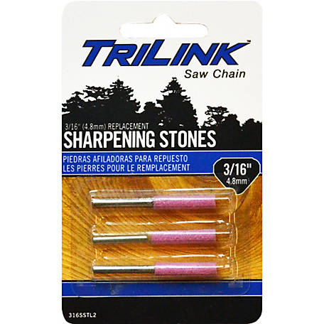 TriLink Saw Chain 3/16 in. Sharpening Stone, Pack of 3