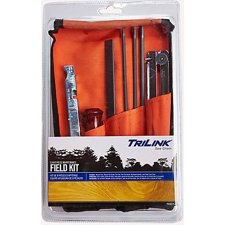 TriLink Saw Chain 8-Piece Chainsaw Sharpening Field Kit