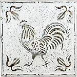 Red Shed Metal Rooster Ceiling Tiles