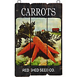 Red Shed Palette Sign, CARROTS