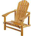 Red Shed Log Adirondack Chair