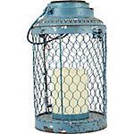 Red Shed Soft Glowing Solar Chicken Wire Lantern, Large
