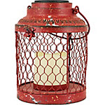 Red Shed Soft Glowing Solar Chicken Wire Lantern, Small