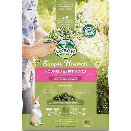 Oxbow Animal Health Simple Harvest Young Rabbit Food, 4 lb.