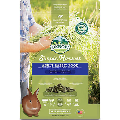 Oxbow Animal Health Simple Harvest Adult Rabbit Food, 4 lb.