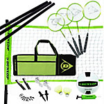 Dunlop Volleyball Badminton Lawn Game 11-Piece Outdoor Backyard Party Set with Carrying Case