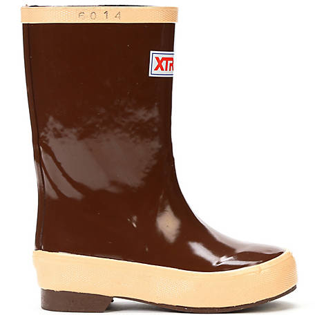 XTRATUF Youth Legacy 8 in. Rubber Dipped Waterproof with Rubber Chevron Outsole Boot