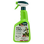 Safer Brand Rose & Flower Insect Killer, Organic, Ready to Use Spray, 32 oz.