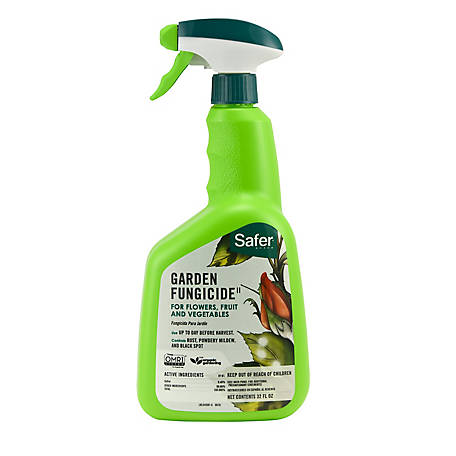Safer Brand Garden Fungicide II, Organic, Ready To Use Spray, 32 oz.