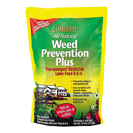 Concern All Natural Weed Prevention Plus Herbicide Granules, 25 lbs.