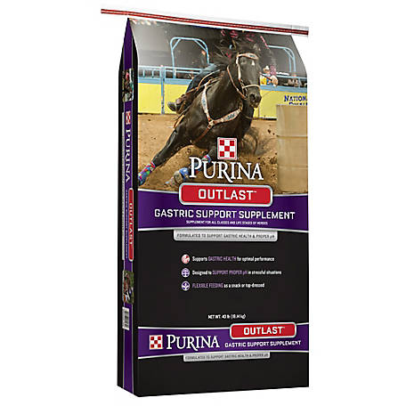 Purina Outlast Gastric Support Horse Supplement, 40 lb.