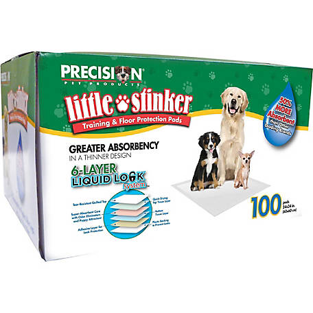 Precision Pet Little Stinker Housebreaking Pad 24 in. x 24 in., Pack of 100