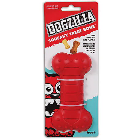 Dogzilla Squeaky Treat Bone, Large
