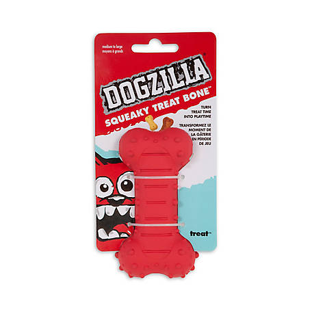 Dogzilla Squeaky Treat Bone, Medium