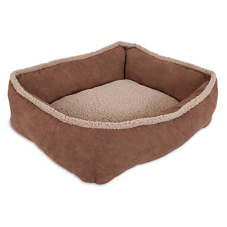 Aspen Pet Shearling Rectangular Lounger