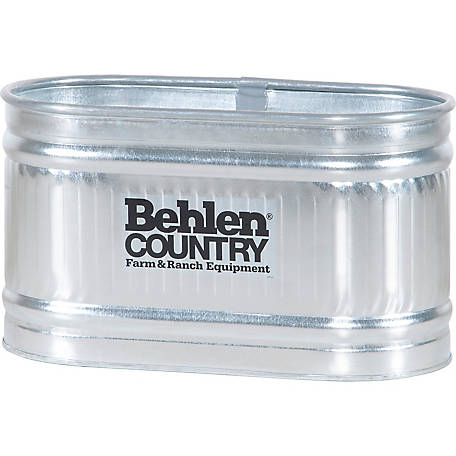Behlen Country 224 Galvanized Round End Stock Tank