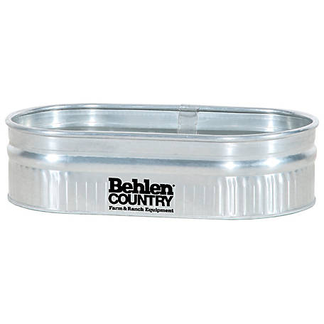 Behlen Country 2-1-4 Galvanized Round End Sheep Stock Tank