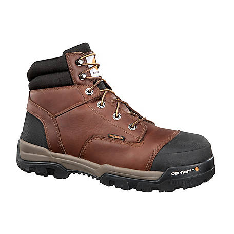 Carhartt Men's Ground Force 6 in. Brown Composite Toe Waterproof Lace-Up Work Boot