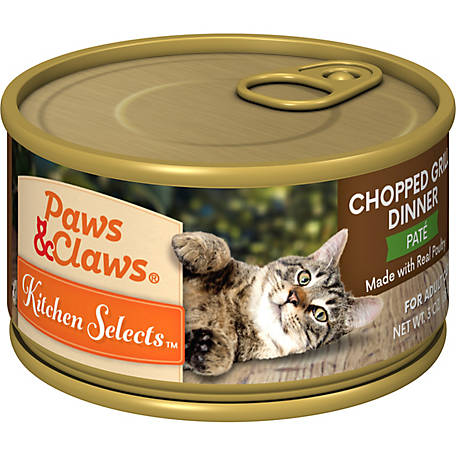 Paws & Claws Kitchen Selects Gourmet Chopped Grill Dinner, 3 oz. Can