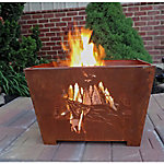 Laser-Cut Fire Box, Nature Scene