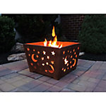 Laser-Cut Fire Box, Stars/Moon