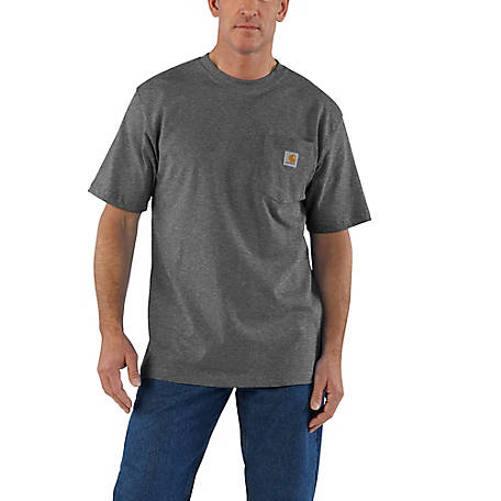 Carhartt Mens Big /& Tall Pocket Short Sleeve T Shirt Original Fit Navy 3X Large
