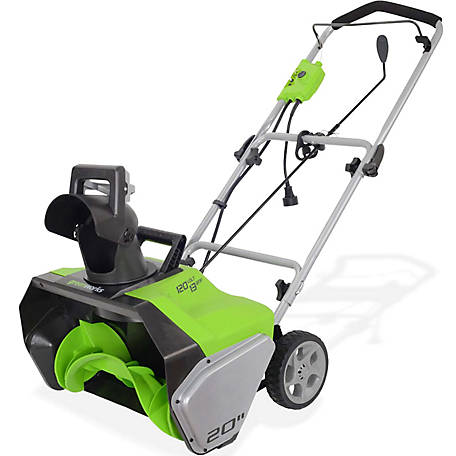 GreenWorks GWSN20130 13A 20 in. Single Stage Snow Blower