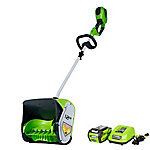 GreenWorks GLSS404100 40V GMAX 12 in. Single Stage Snow Shovel with 4Ah Battery and Charger