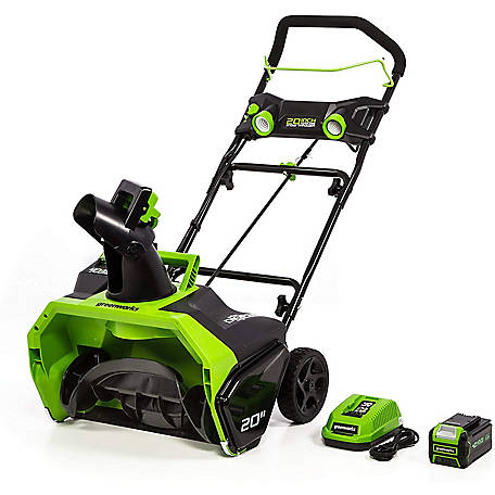 GreenWorks 26272 40V GMAX DIGI-PRO 20 in. Single Stage Snow Blower with 4Ah Battery and Charger