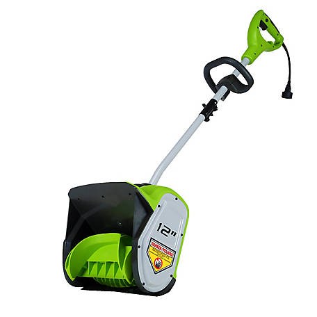 GreenWorks GBSS08000 8A 12 in. Single Stage Snow Shovel