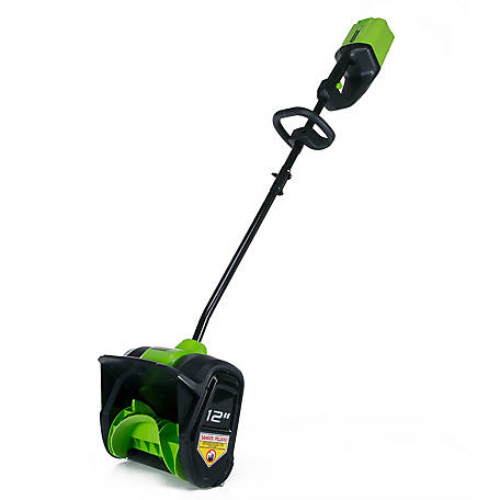 Greenworks GLSS80000 PRO 80V 12 in. Single Stage Snow Shovel (Tool Only), 2601202