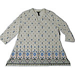Bit and Bridle's 3/4 Sleeve Tunic, Geometric Pattern