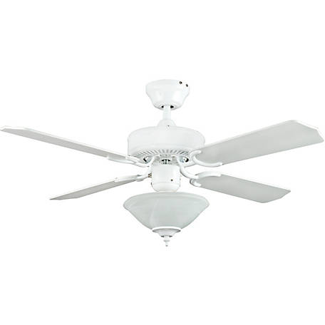 Concord by Luminance 42 in. Heritage Square Ceiling Fan with Bowl Light Kit, White