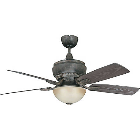 Concord by Luminance 52 in. Boardwalk for Wet Location Ceiling Fan, Aged Pecan