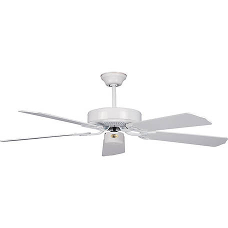 Concord by Luminance 52 in. California Home Collection Ceiling Fan, White