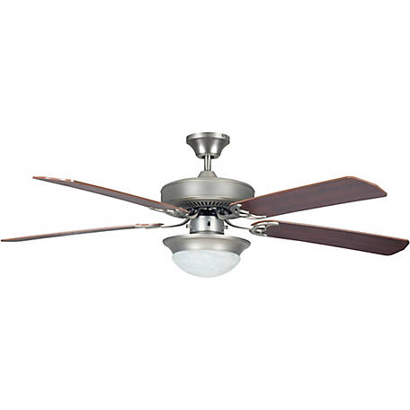 Concord by Luminance 52 in. Heritage Fusion Ceiling Fan with CFL Light Kit, Satin Nickel