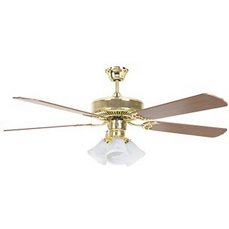 Concord by Luminance 52 in. Heritage Home Ceiling Fan with Light Kit, Oil Polished Brass