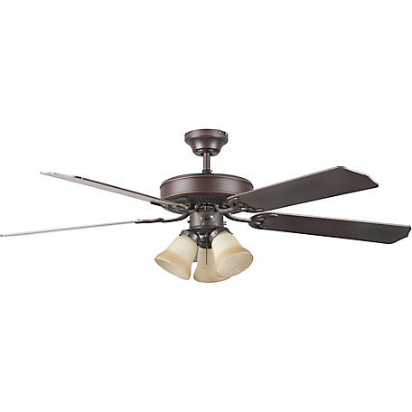 Concord by Luminance 52 in. Heritage Home Ceiling Fan with Light Kit, Oil Rubbed Bronze